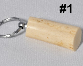 Organic keychains antler and wood