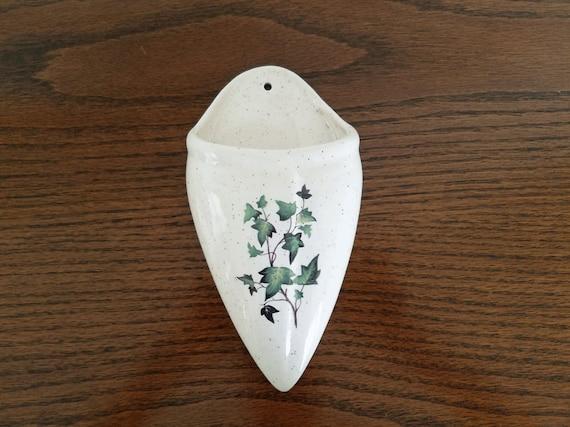 Ceramic Wall Pocket Vase Etsy