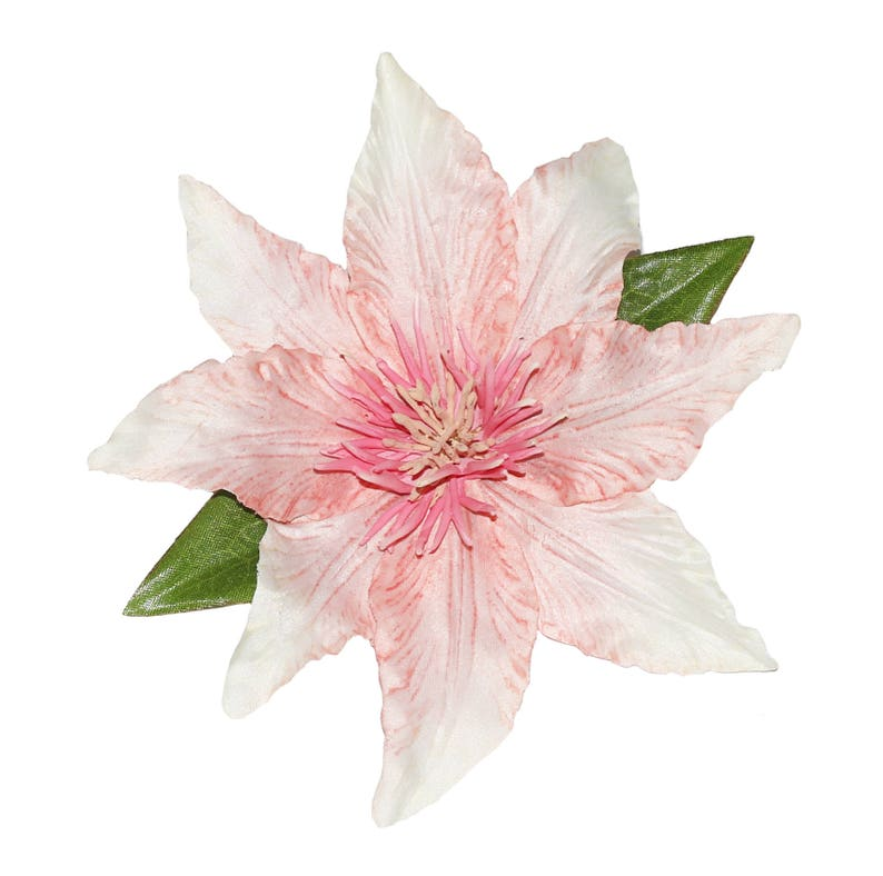Pretty Pink Pin Up Clematis Hair Flower Cliip