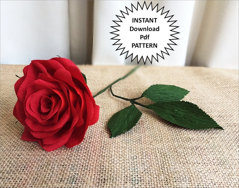 How to make paper rose flower at home