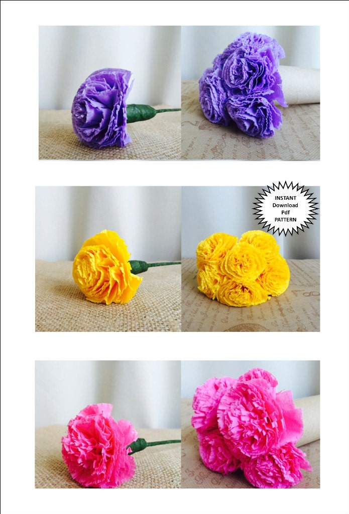 Paper Craft Pdf Pattern DIY Paper Flowers DIY Craft ...