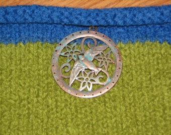 Leaf green hip satchel