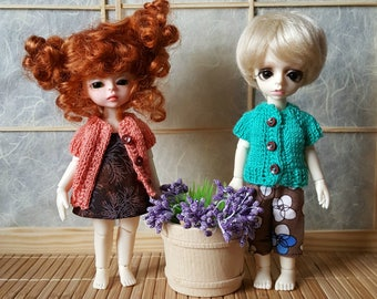 Stock 8 colors: BJD tiny Lati yellow Knitted short-sleeve jacket Choose your color