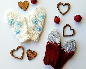 Pre-order: BJD tiny YoSD MSD SD knit mittens Choose your options!