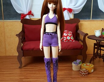 Pre-order: BJD MSD SD Knitted shorts and top