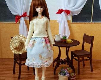 Pre-order: BJD MSD SD Handmade Set Sweater Skirt Petticoat Socks