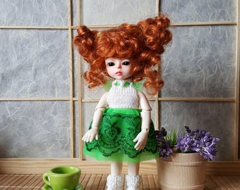 Stock 3 colors: BJD tiny Lati yellow tulle lace skirt Choose your color