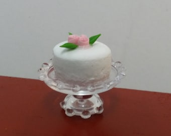 Special Occasion Cake For Fairy Garden or Dollhouse Miniature Christmas Food Enjoyment