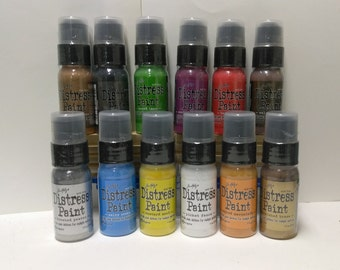 Distress Paints- Acrylic Paint Dabbers for Multiple Surfaces
