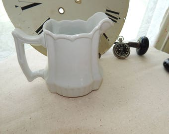 Beautiful Vintage French Country Farmhouse White Pitcher Creamer