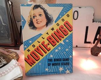 Antique Flapper Girl 1930's Hollywood Movie Bingo Game