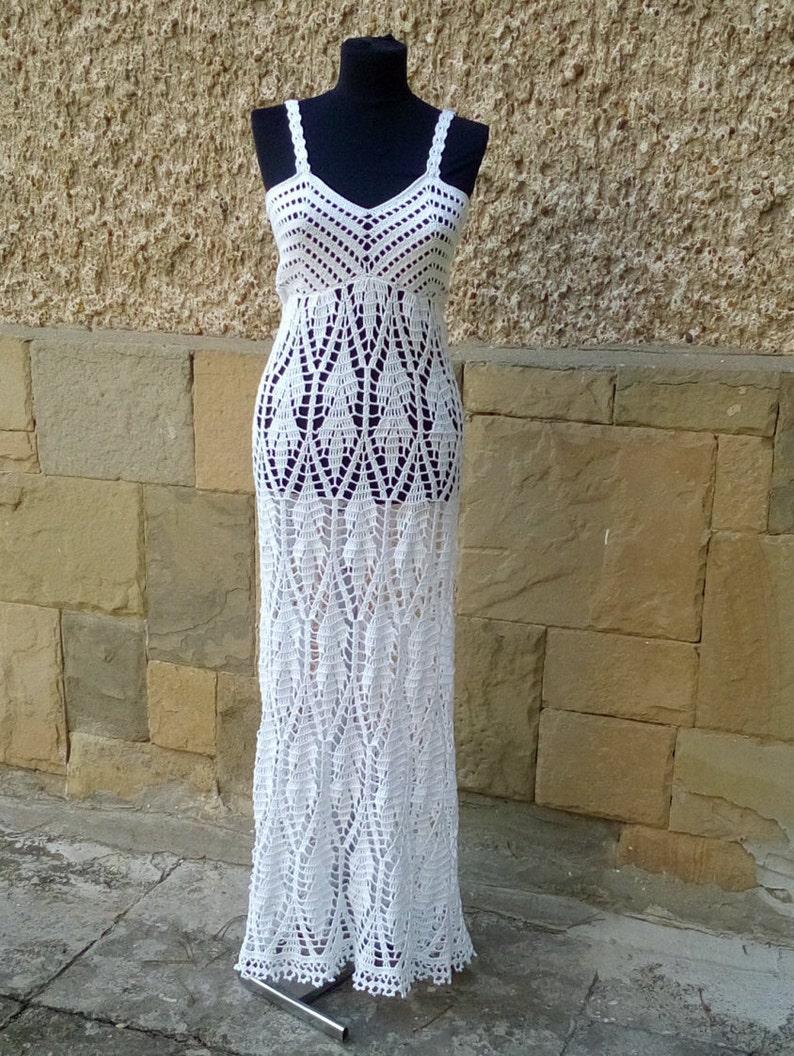 1a2c6062c90 Crochet Wedding Dress Boho Wedding Dress Long Wedding Dress