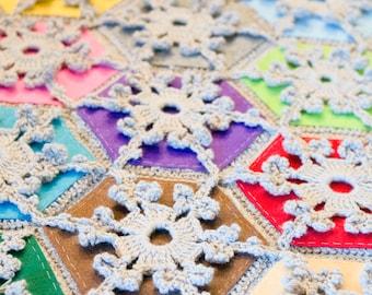 CROCHET PATTERN for Winter Wonderland Reversible Throw / Blanket / Afghan