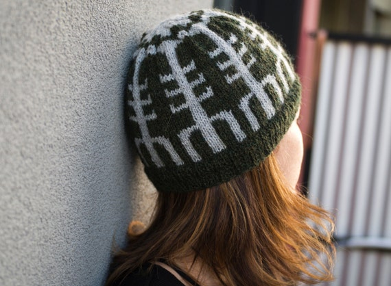 Knitting Pattern For The Helm Of Awe Hat Toque Etsy