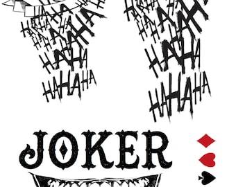 Joker Tattoos Etsy
