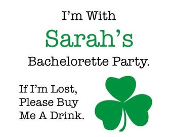 14f91923 10 Shamrock Bachelorette Tattoos - Irish Bachelorette Party Temporary  Tattoos - If I'm Lost, Please Buy Me A Drink