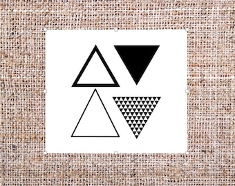 Triangle Tattoo Etsy