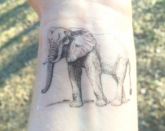 Elephant Tattoo Etsy