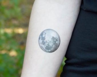 Moon Tattoo Etsy