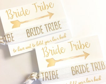 Bachelorette Party Favors - Bride Tribe Hair Tie Party Favors - Bachelorette Hair Tie - Bridesmaid gift - To Have and To Hold Your Hair Back