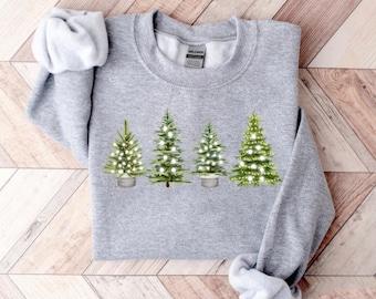 Christmas Tree Shirt, Christmas Shirts for Women, Cute Christmas Sweatshirt, Holiday Sweater, Womens Christmas Shirt, Christmas Pullover Tee