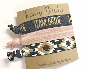 Bachelorette Party Favors, Hair Tie Favors, Bachelorette Favor, Bridesmaid Favor, Team Bride Favor, Bachelorette Hair Tie, To Hold Hair Back
