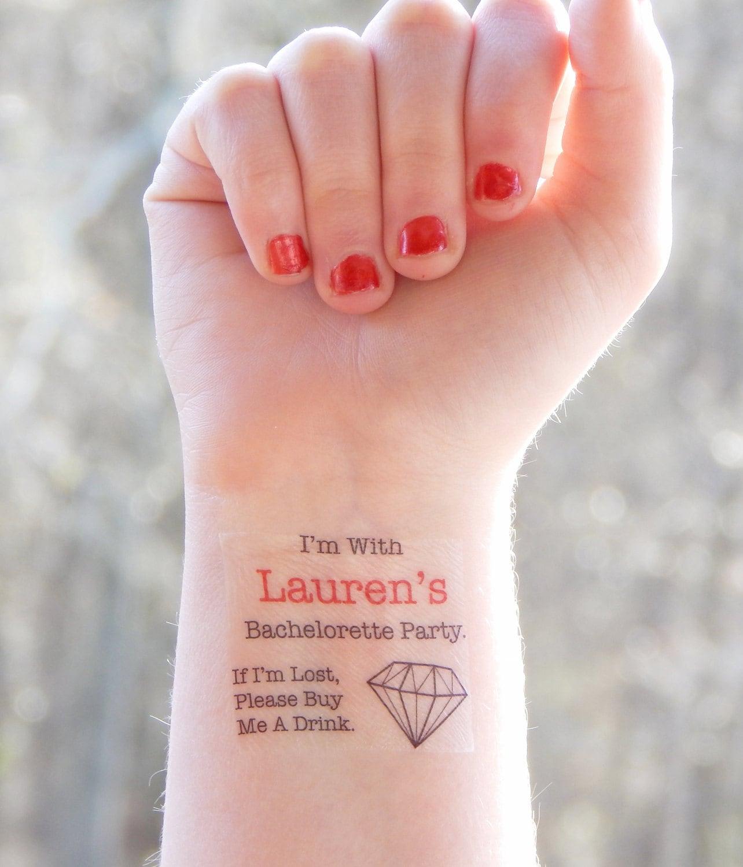 Bachelorette Tattoos Bachelorette Party Temporary Tattoos