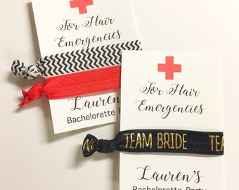 Hangover Kit Favor - Bachelorette Party Favor - Bachelorette Survival Kit - Hair Band Bachelorette - Hair Tie Favor - Bachelorette Hair Tie