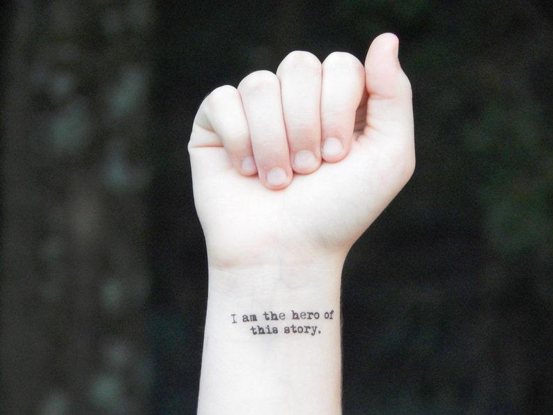 Temporary Tattoo Quote Tattoo Inspirational Tattoo I Am   Etsy