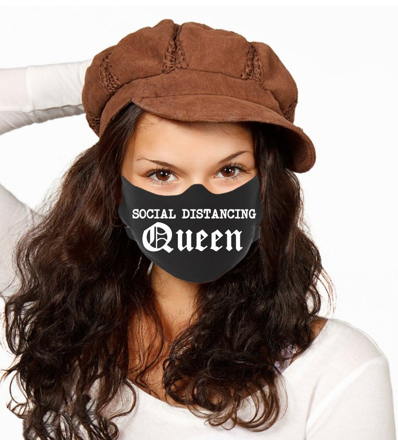 Face Masks Social Distancing Queen Quarantine Face Mask image 0