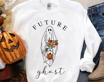 Halloween Ghost Shirt, Halloween Party Shirt, Floral Ghost Shirt, Autumn Shirt, Trick or Treat Shirt, Cute Ghost, Halloween Pumpkin Gift