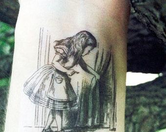 Alice in Wonderland Temporary Tattoo