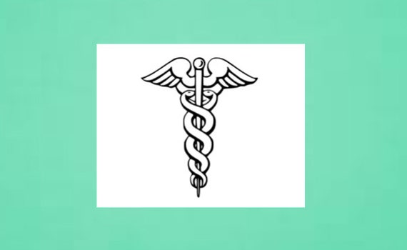 Temporary Tattoo Caduceus Medical Symbol Doctor Etsy
