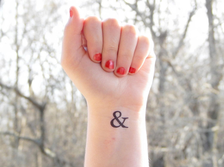 Temporary Tattoo & Ampersand Tattoo Wedding Ampersand | Etsy