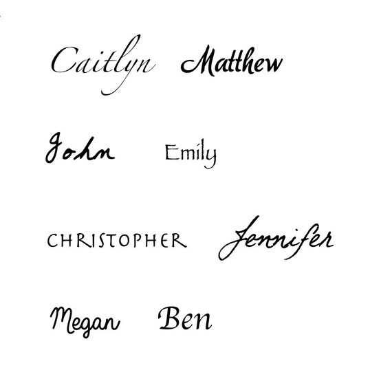 Custom Name Tattoo Personalized Name Temporary Tattoo Word Etsy