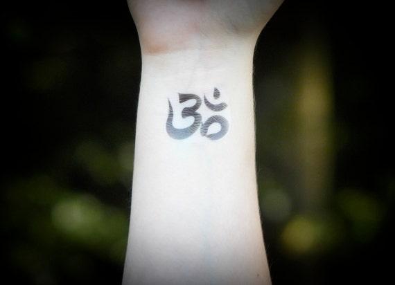 Om tattoo temporary tattoo ohm meditation zen reiki etsy image 0 thecheapjerseys Choice Image
