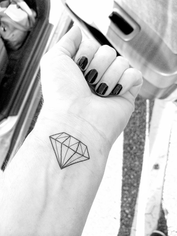 diamant-tattoo diamant temporäres tattoo | etsy