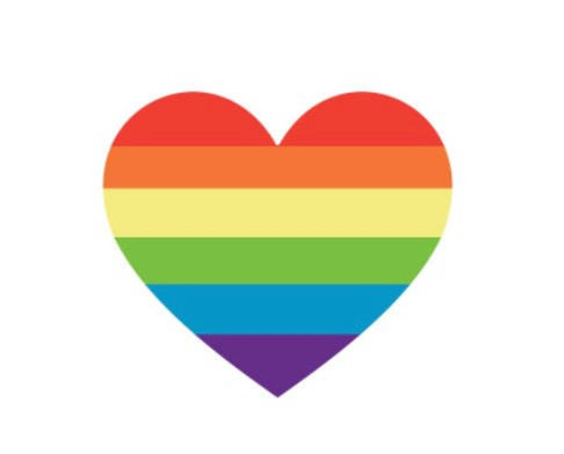 3d845d1307295 Gay Pride Rainbow Heart Love is Love Gay Wedding | Etsy