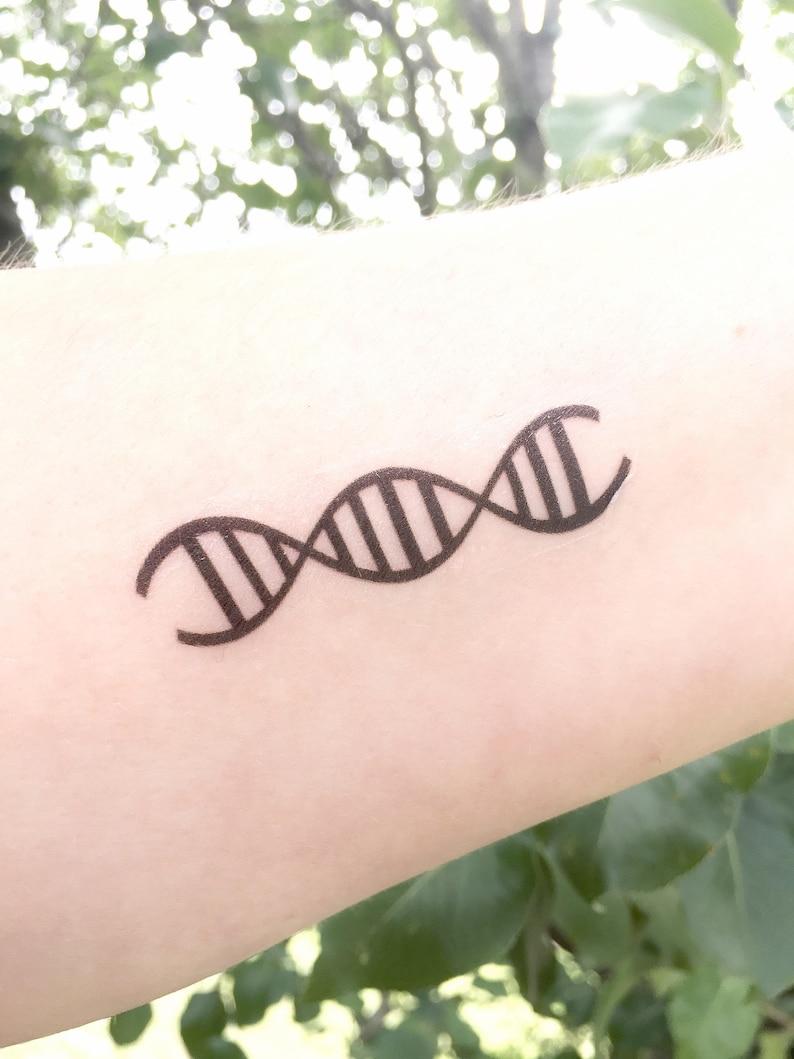 1dfe41ca7 DNA Temporary Tattoo DNA Replication Double Helix Genetics image 0