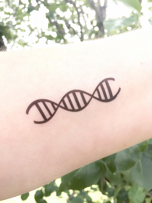 DNA Temporary Tattoo DNA Replication Double Helix Genetics | Etsy