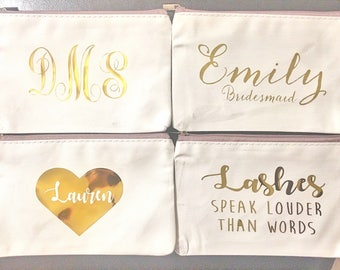 Personalized Gift for Her, Personalized makeup bag, Custom name Makeup bag, bridesmaid gift, Custom Makeup Bag,Personalized Name Bag