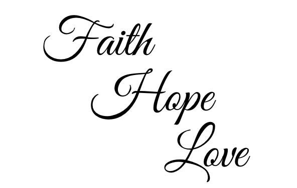 faith hope love temporary tattoo quote tattoo tattoo etsy