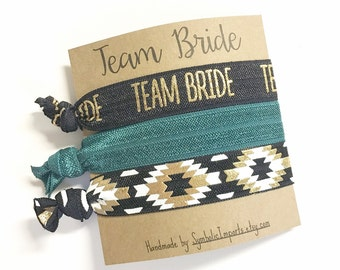 Bachelorette Team Bride Party Favors - Bachelorette Party Favors - Hair Tie Favors, Bachelorette Hair Ties, Bachelorette Favors