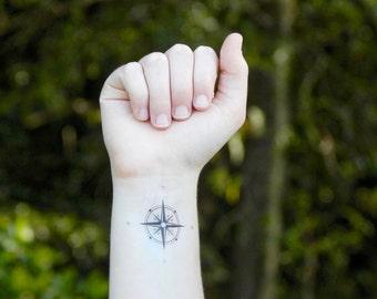 Temporary Tattoo - Compass