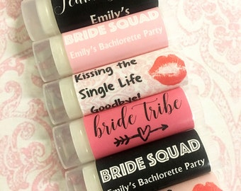 Bachelorette Party Favors - Bachelorette Lip Balm - Bachelorette Party Lip Gloss - Bride Squad Favors - Bride Tribe Favor - Team Bride Favor
