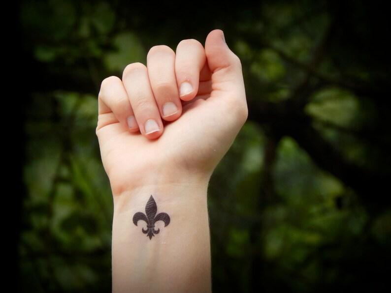 9b83155f5 Fleur de lis temporary tattoo | Etsy