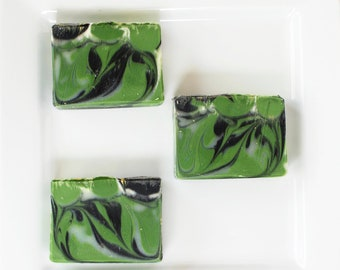 Mint Eucalyptus Cold Processed Soap with Activated Charcoal