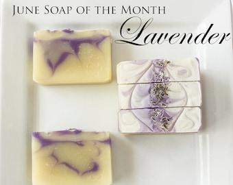 Lavender Essential Oil Cold Processed Soap