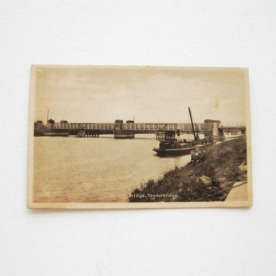 Toomebridge Real Photo Tuck\u2019s Postcard Antrim County Bridge Vintage Tucks Postcard Northern Ireland
