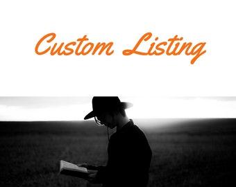 Custom Listing for Rhonda